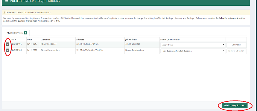 Exporting Publishing LMN Invoices To QuickBooks Online LMN - Quickbooks online invoice number