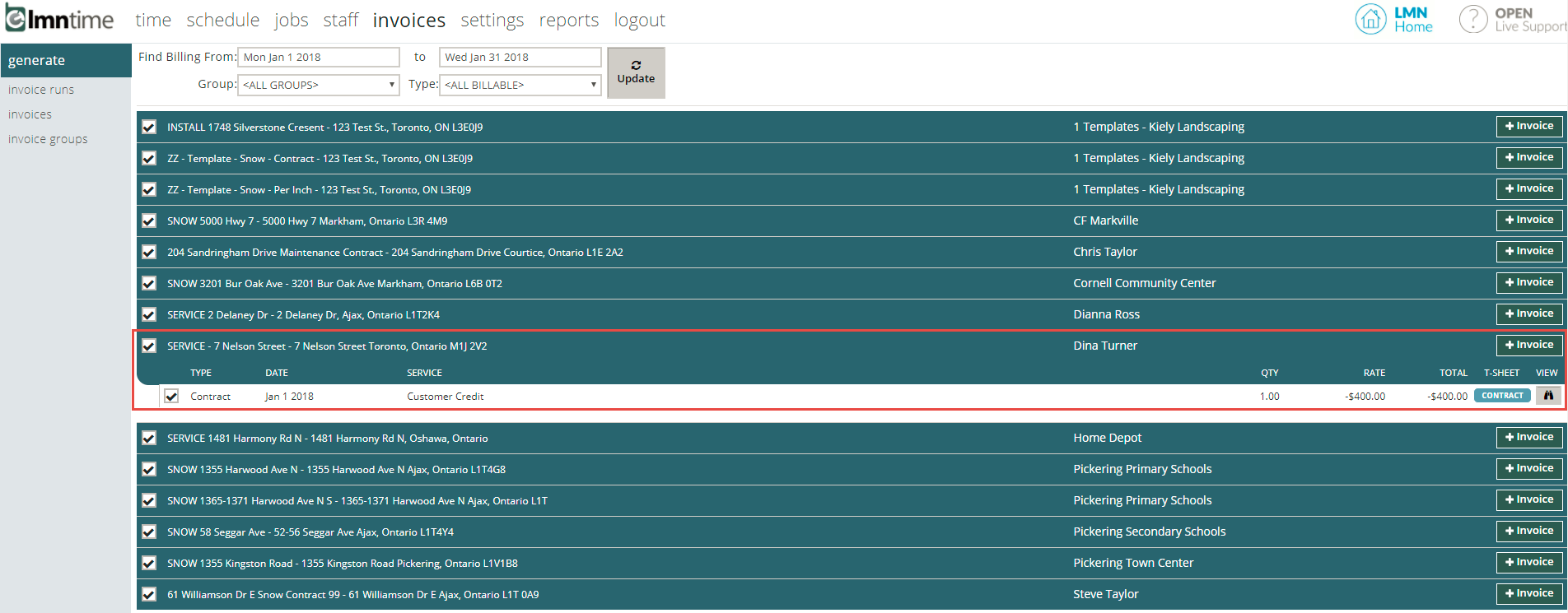 NEW FEATURE! Export Negative Invoices – LMN